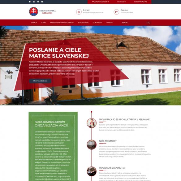 Tvorba webových stránok, eshopov a iných web aplikácii | webstránka | eshop | webstránky | eshopy | maticaslovenskaabraham