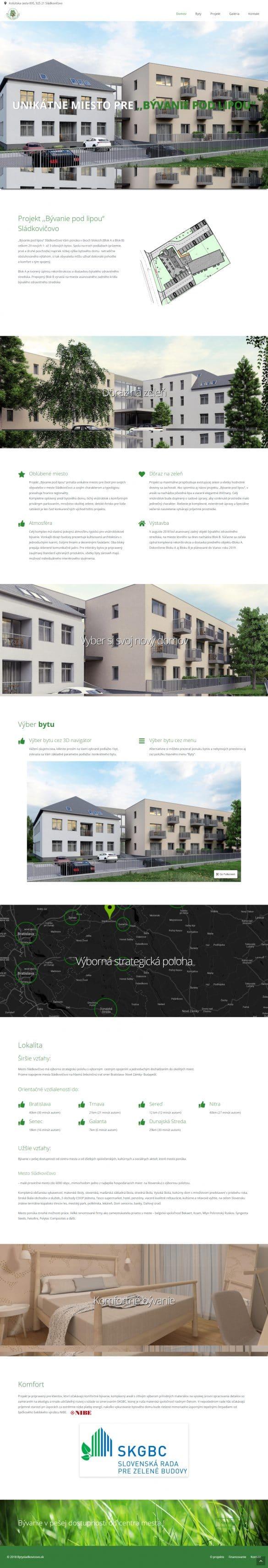 byty Sládkovičovo - tvorba webových stránok