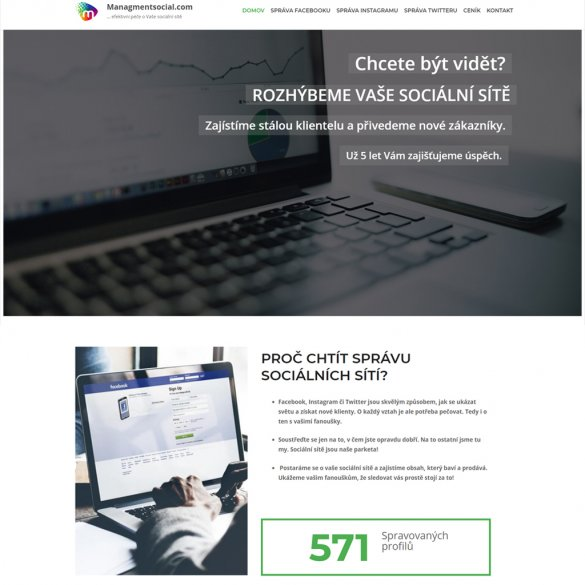 managmentsocial.com správa sociálnych sietí: Facebook, Instagram, Twitter