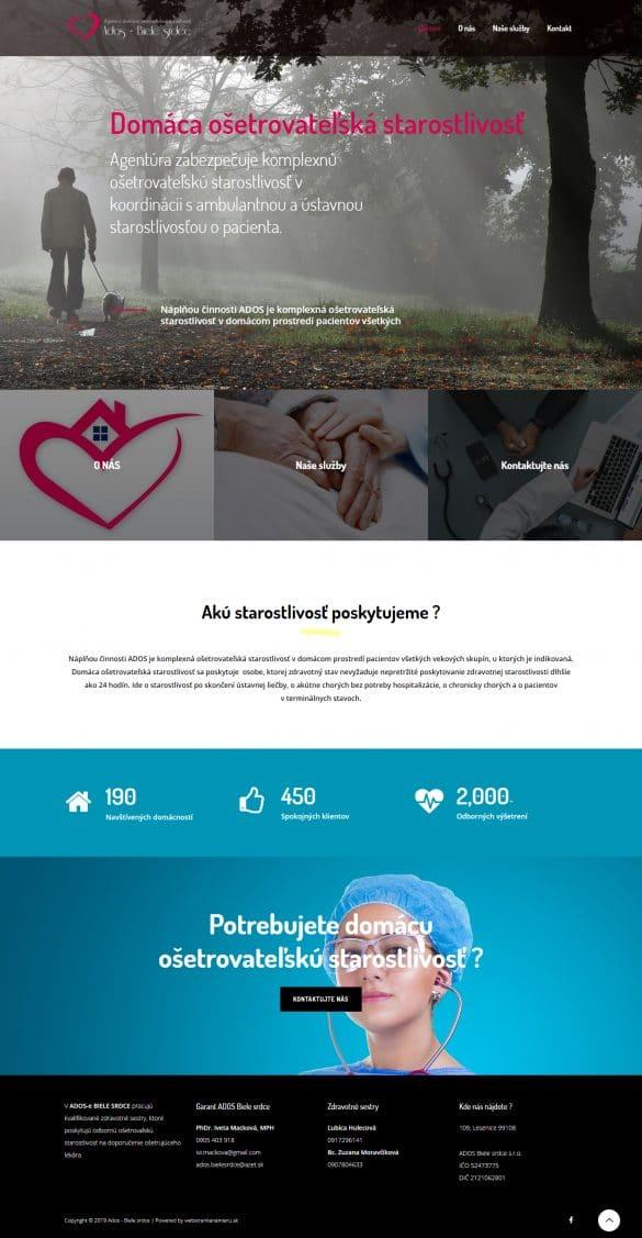 tvorba webových stránok - adosbielesrdce.sk | tvorba web stránok cena | tvorba webstranky