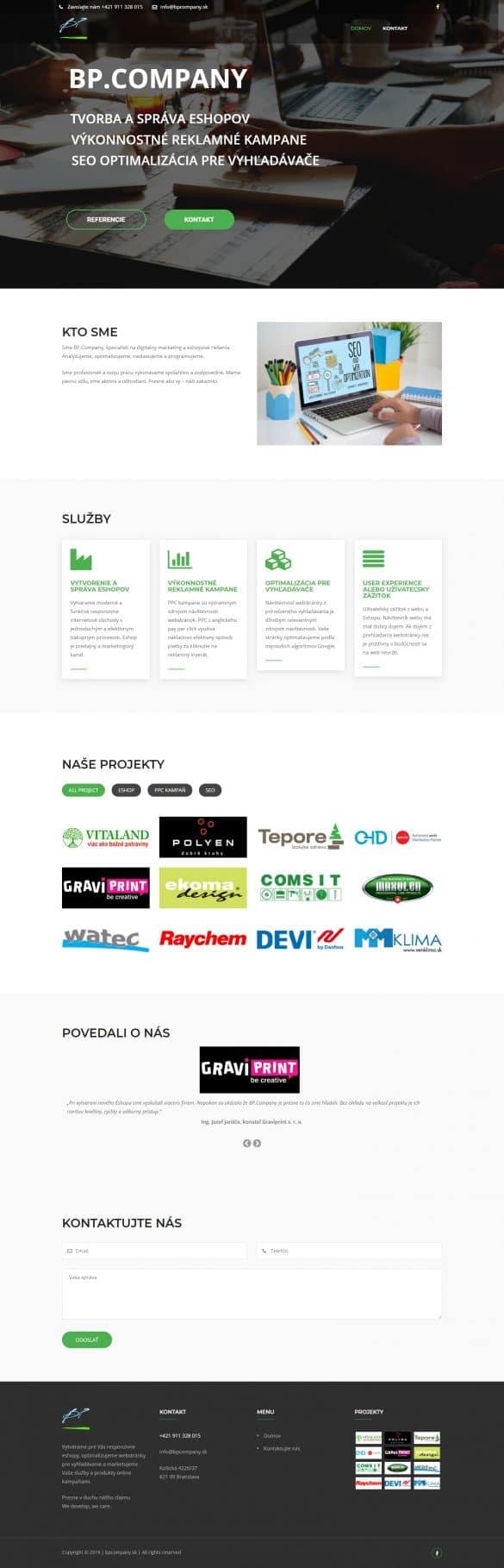 tvorba webových stránok - bpcompany.sk | webstránka | webstranka | webstránky | webstranky