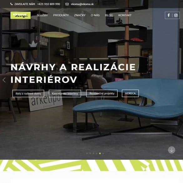 optimalizovaná webstránka ekoma.sk