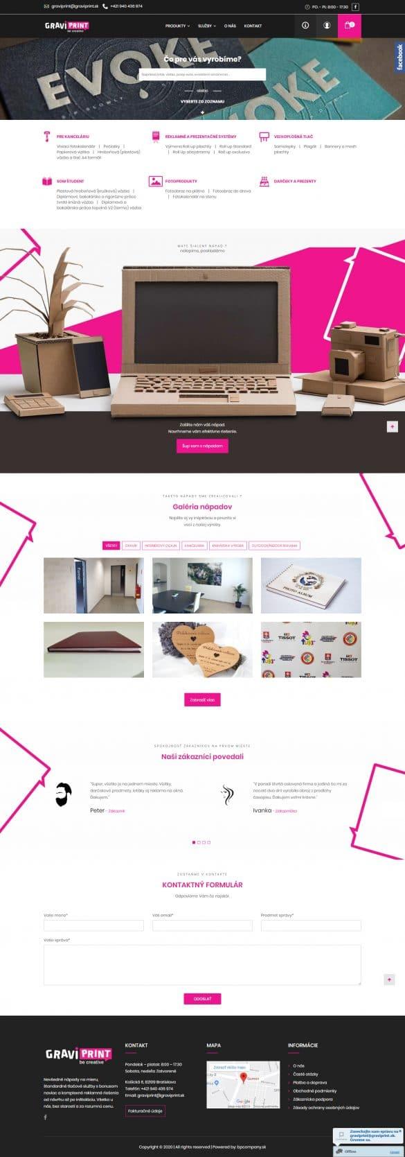 Tvorba webových stránok - tvorba eshopu - graviprint.sk | tvorba web stránok cena webstránky | eshop cena