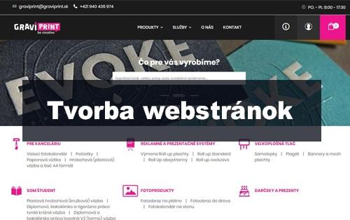 Tvorba webových stránok - graviprint.sk | webstránka | webstranka | webstránky | webstranky